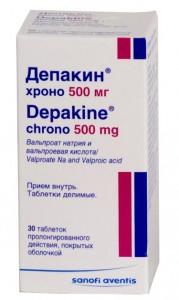 Депакин Хроно ретард.  тбл пролонг. действия п/о 500мг N30