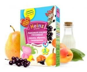 Каша Хайнц ( Heinz ) Лакомая Гречка,груша,абрик,смор.200г Россия