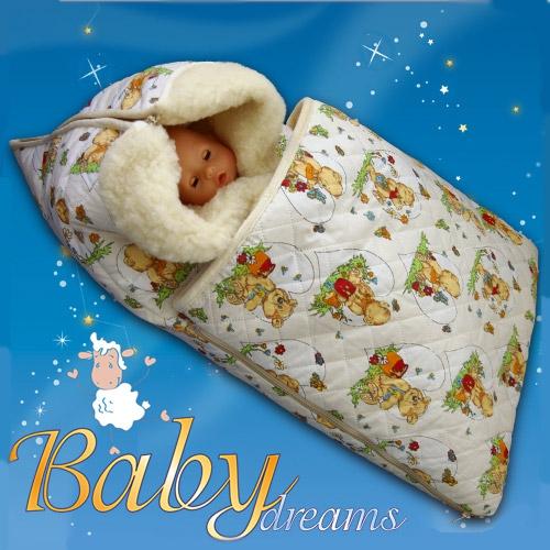Как сшить зимний конверт для новорожденного своими