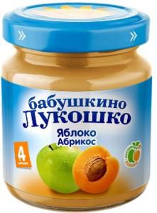 Пюре Бабушкино Лукошко яблоко абрикос с 4мес. 100г