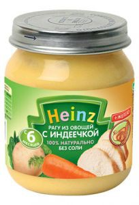 Пюре Хайнц ( Heinz ) рагу из овощей с индеечкой 120г