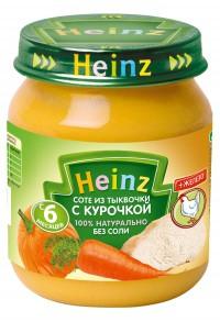 Пюре Хайнц ( Heinz ) соте из тыковки с курочкой 120г