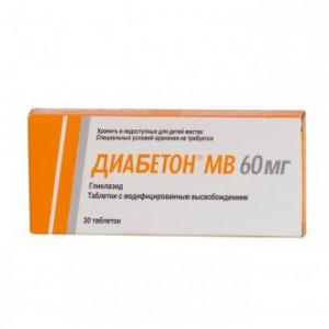 Диабетон МВ,тбл с модиф высвоб 60мг 30_Россия