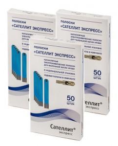 Тест-полоски к глюкометру Сателлит Экспресс, N50