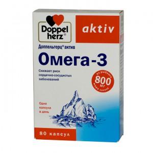 Доппельгерц Актив Омега-3, капс №80