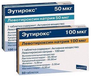 Таблетки эутирокс гормональные или нет - d
