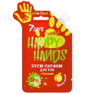 7 DAYS HAPPY HANDS КРЕМ-ПАРФЮМ ДЛЯ РУК HAND IN HAND С ПЕРСИКОМ 25,0